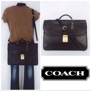 Coach UNISEX VTG Leather Diplomat Briefcase